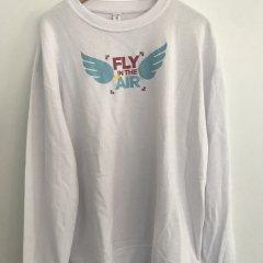 Mikina bílá Fly unisex S,M,L,XL