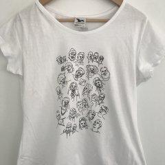Triko dámské Faces bílé S,L